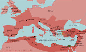 rome on a map ap history rome and the barbarians