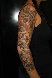 ideas flower sleeve tattoos sleeve unique