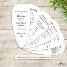 Wedding Program Paddle Fan Template Fan Wedding Program Wedding Wonderland Programs Pinterest
