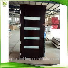 Solid Interior Door Red Oak Solid Wood Interior Doors Prehung Contemporary 5 Lite Mist