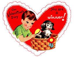 retro valentines retro valentines graphic boy with pup the graphics fairy