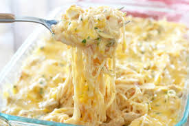 creamy cheesy chicken spaghetti the country cook