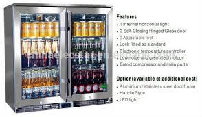 Glass Door Beverage Refrigerator For Home by Bar Equipment Counter Top 3 Glass Door Display Freezer For Beer