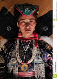 ladakh clothing ladakhi tribal woman in traditional clothing on the traditional