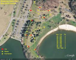 Shawnee Map Shawnee State Park Professional Disc Golf Association