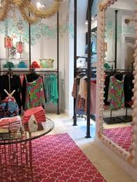 lilly pulitzer stores brand storytelling in the fitting room inside a lilly pulitzer