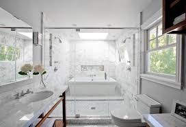 smart design a bath tub inside a marble shower oh what a very bathroom with a freestanding tub inside a glass enclosed marble shower white vein y