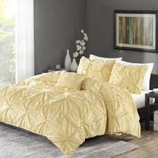 Organic Cotton Pintuck Duvet Cover Shams Bedroom Enchanting Ruched Duvet Cover For Bedroom Decoration