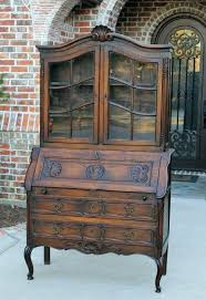 secretary desk with bookcase antique drop front secretary desk with bookcase antique french drop