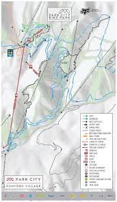 Park City Utah Map Park City Mountain Bike Trail Guide Evo