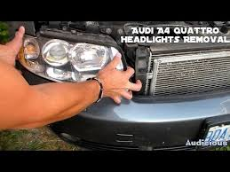 audi a4 headlight bulb replacement audi a4 quattro headlights removal bulb replacement