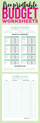 Monthly Budget Sheet Template Best 25 Monthly Budget Worksheets Ideas On Budget