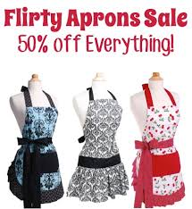 flirty aprons sale 50 everything the frugal