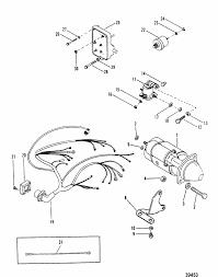starter motor u0026 wiring harness for mercruiser 165 hp 3 7l 170