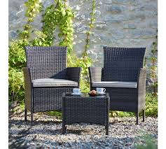 Argos Bistro Table Buy Collection Fiji Rattan Bistro Set Grey At Argos Co Uk Your