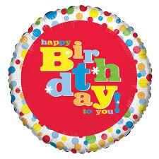 birthday balloons bulk whimsy happy birthday foil balloons 18 at dollartree
