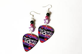 my chemical earrings my chemical guitar earrings by princessanathema13 on