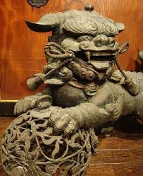 japanese guard dog statues japanese karajishi shishi lion foo dog statue okimono japanese