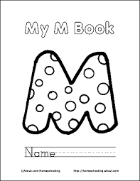 Letter M Coloring Book Free Printable Pages M Coloring Pages