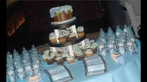 Centerpiece For Baby Shower by Easy Baby Boy Baby Shower Themes Decorations Youtube