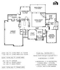 good 4 bedroom 2 story house plans on one story 4 bedroom house