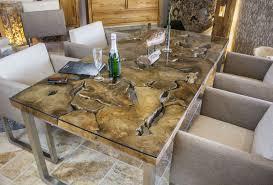 esstisch design design esstisch aus altholz mit edelstahlgestell der tischonkel