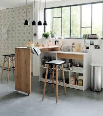 table haute avec tabouret pour cuisine rangements pratiques pour la cuisine vielle table et niche