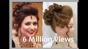 pics of bridal hairstyle 3 beautiful hairstyles with puff easy wedding hairstyles youtube