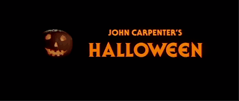 halloween film titles and marketing fonts in use