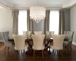 grey nailhead dining chairs dining room transitional with