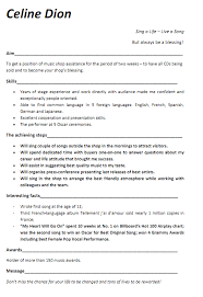 Musician Resume Samples by Music Resume Examples Contact Your Favorite Musicians Free At