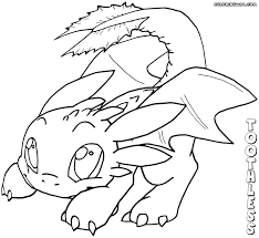 toothless coloring pages night fury dragon coloring page free
