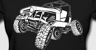 off road white monster jeep t shirt spreadshirt