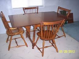 antique maple dining room set birdseye table solid furniture