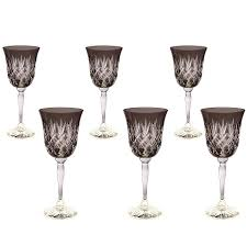 home accessories gorgeous design of crystal wine glasses for home