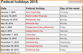 7 calendar 2015 with holidays printable emails sle