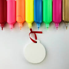 diy ornaments paint craft color made happy