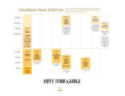 a printable thanksgiving day timeline cooking guide kitchn