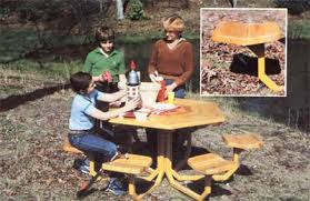 Free Hexagon Picnic Table Designs by Build A Hexagon Picnic Table Diy Mother Earth News
