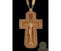 wooden crucifix orthodox priest pectoral cross priestly carved wooden crucifix 2