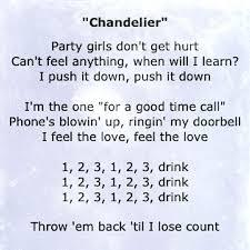 Chandelier Youtube Chandelier Lyrics By Sia U2013 Eimat Co