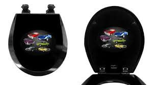 themed toilet seats the furniture cove black finish toilet seat w car logo