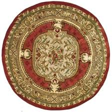 Round Burgundy Rug Classic Burgundy Red 6 Ft X 6 Ft Round Area Rug Products And