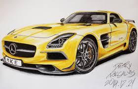 of mercedes 2014 mercedes sls amg black series drawing