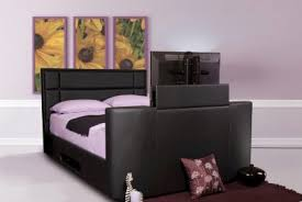 mazarine tv bed black u2013 modish furnishing