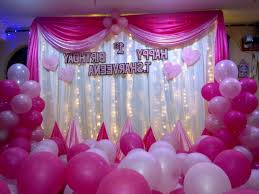 Birthday Balloons Decoration Ideas At Home BigInf - Birthday decorations at home ideas