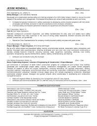 Project Manager Construction Resume Construction Company Essay