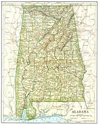 Alabama Time Zone Map by Images Of Alabama 1891 Alabama Map Alabama U2022 Mappery Alabama