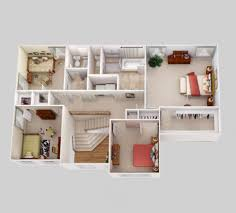modern home interior design color floor plan residential floor