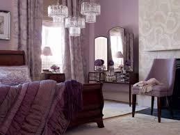 decorating ideas for a purple bedroom with crystal ceiling light